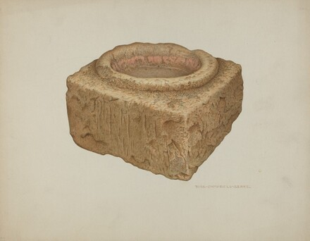 Sandstone Holy Water Font