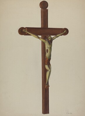 Carved Wooden Crucifix