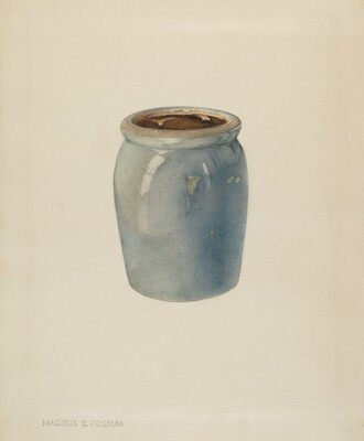 Pottery Jam Jar