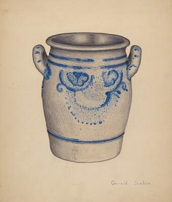 Gray Pottery Jar