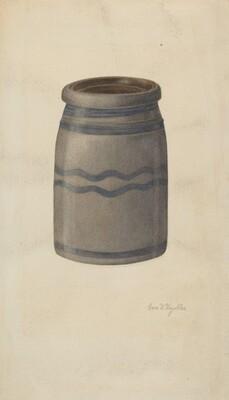 Quart Stoneware Preserving Jar