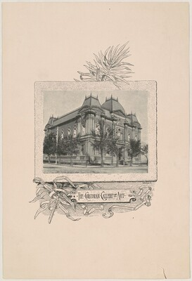 Photo of Building, for the 1892 Corcoran Gallery General Catalogue