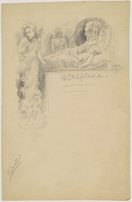 Sculpture Logo, for the 1892 Corcoran Gallery General Catalogue