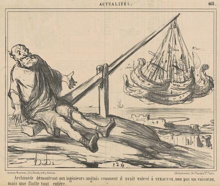 Archimède démontrant aux ingènieurs anglais ...