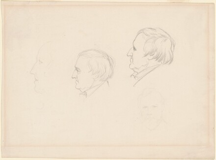 Profile Studies and Head of a Man