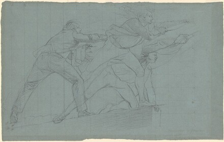 Three Men (study for Seige and Relief of Gibraltar)