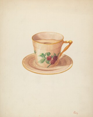 Moustache Cup and Saucer