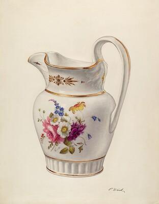 White Glazed Porcelain Pitcher