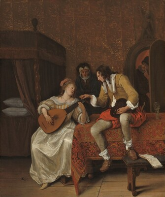 Ascagnes and Lucelle, The Music Lesson
