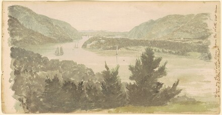View of the North River from the North West Corner of Fort Clinton - West Point