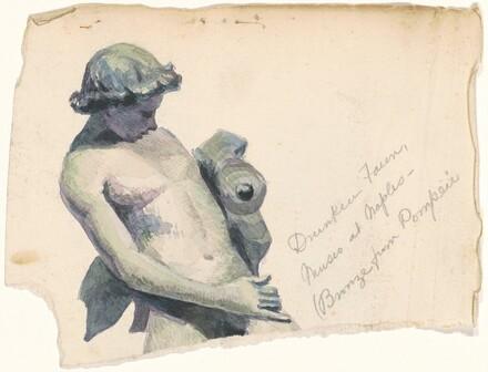 Drunken Faun, Museo at Naples (Bronze from Pompeii)