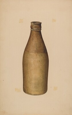 Stoneware Ink Bottle