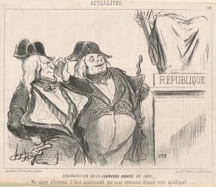 Réapparition de la jeunesse dorée en 1851