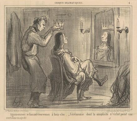Agamemnon se fiasant couronner a huis-clos