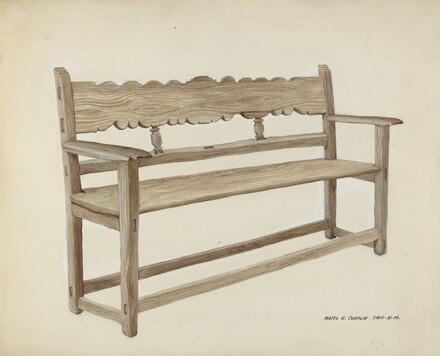 Church Bench - Wooden