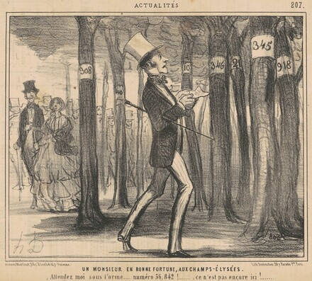 Un monsieur en bonne fortune aux Champs-Elysées
