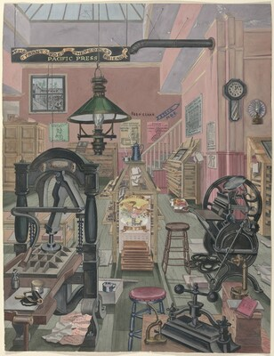 Print Shop, 1870