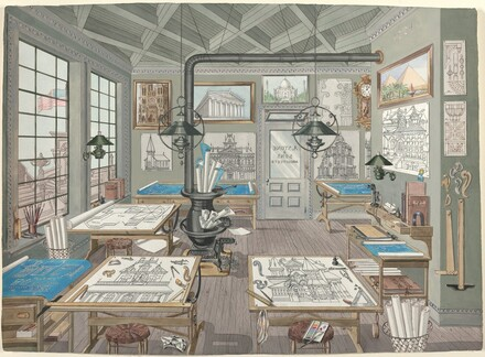 Architect's Drafting Room, 1884