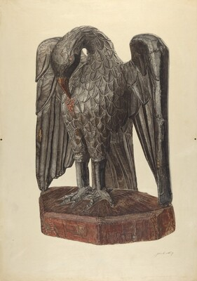 Hand Carved Eagle