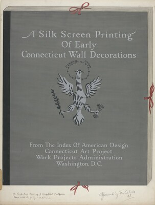 A Silk Screen Printing of Early Connecticut Wall Decorations, Portfolio Cover
