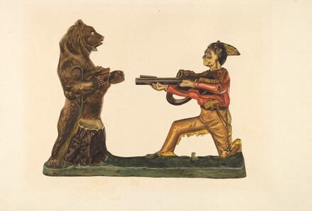 Toy Bank: Hunter Shooting Bear