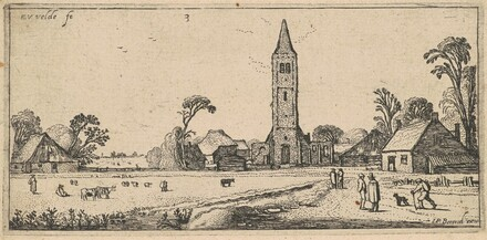Landscape with a Meadow and a Village Church