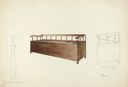 Spindle Settee Chest