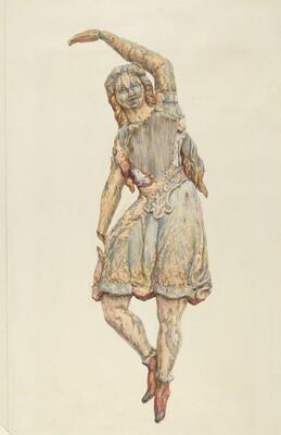 Circus wagon figure: dancing girl