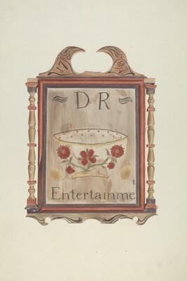 David Reed's Tavern Sign (recto)