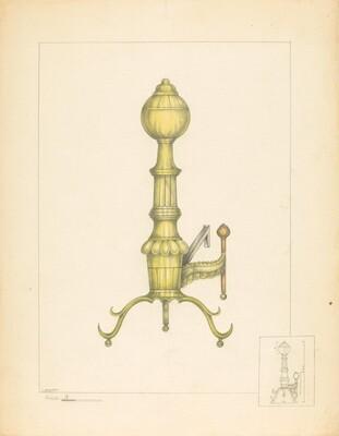 Brass Andiron