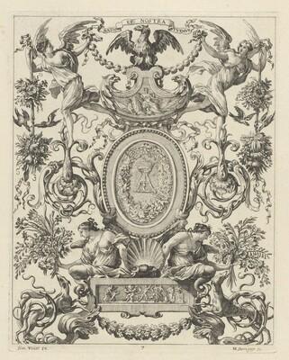 Ornamental Panel Surmounted by an Eagle and the Motto NATOS ET NOSTRA TUEMUR