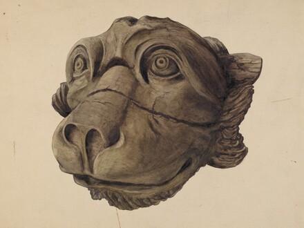 Cat Head Gargoyle