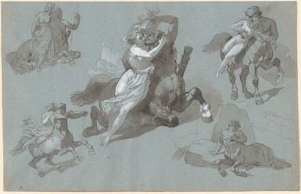 Nessus and Dejanira in Four Poses, and the Dying Nessus