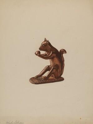 Squirrel Statuette