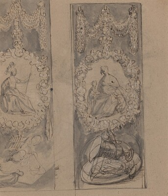 Decorative Motifs with Garlands (verso)