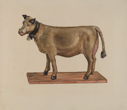 Toy Cow on Stand