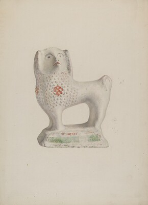 Chalkware Dog