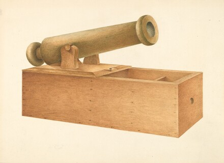 Cannon-shaped Ballot Box