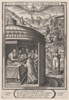 Les Feste du mois de Janvier (January: the Circumcision)
