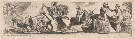 Satyr Driving a Pair of Goats