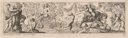 Putti and Satyrs Shooting Arrows