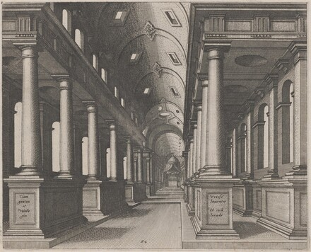 Interior View of a Church with a Barrel Vault