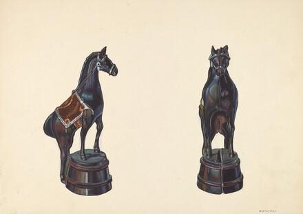 Horse on Barrel Bank