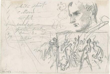 Napoleonic Head and Judgment of Paris [verso]