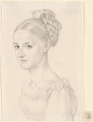 A Young Woman with an Elaborate Hairdo