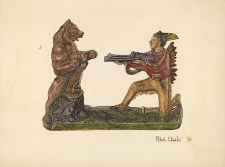 Toy Bank: Bear and Indian