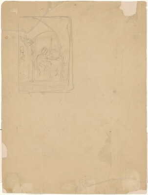 Seated Figure in Arched Interior [verso]