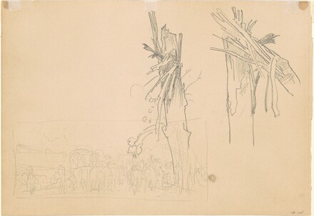 Two Shattered Trees and compositional Study for The Road