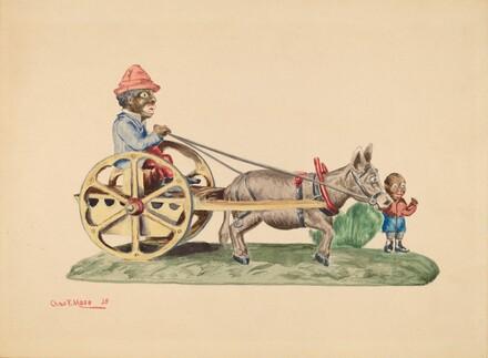 Toy Bank: Donkey Cart