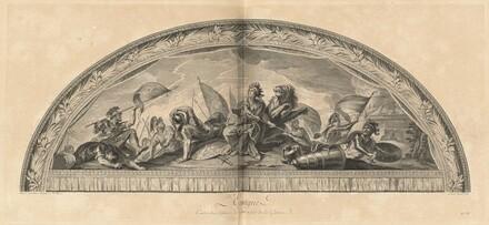 L'Espagne Cintre du Salon de la Guerre en face de la Galerie (Spain, Center of the Salon of War Opposite the Gallery) [pl. 38]